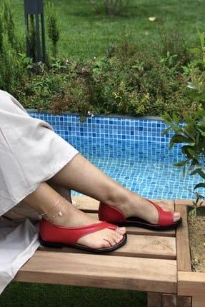 Pembe Potin Kırmızı Kadın Sandalet A975-19 1