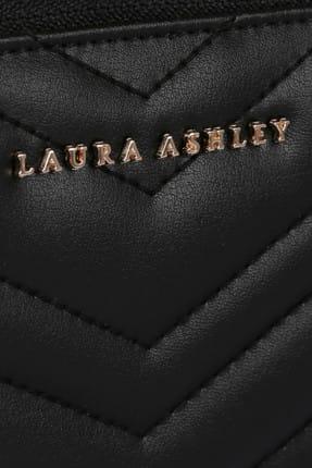 Laura Ashley Kadın Zikzak Desenli Cüzdan Siyah 4