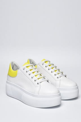 Jeep Ayakkabı Beyaz Sarı Neon Kadın Spor Ayakkabı 9Y2SAJ0005 3