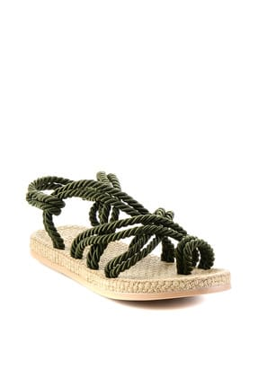 Bambi Haki Kadın Sandalet H0578010160 4