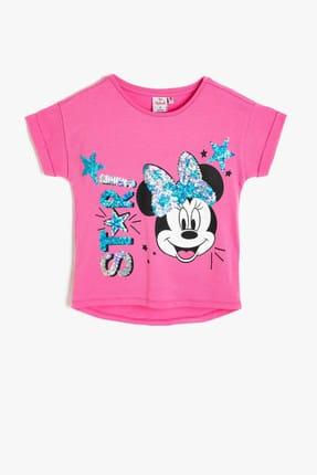 Koton Pembe Kız Çocuk T-Shirt 0