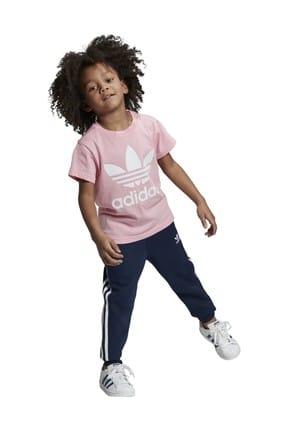 adidas Pembe Trefoıl Tee Çocuk T-Shirt 0