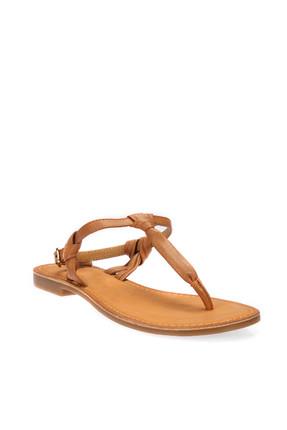 İnci Hakiki Deri Taba Kadın Sandalet 120130005456 4