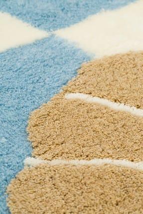Chilai Home Deniz Yıldızı Mavi 3lü Set Banyo Halısı Yıkanabilir, Kaymaz Taban 1
