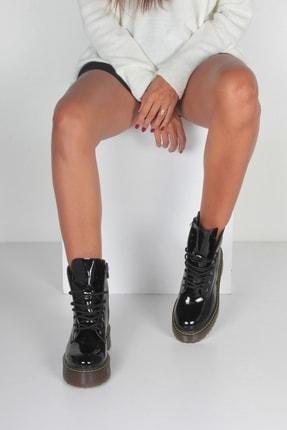 İnan Ayakkabı K. Siyah Rugan Kadın Bot KY92495 3