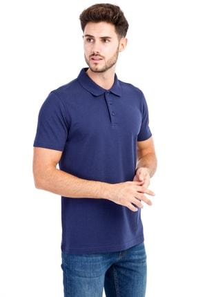 Kiğılı Erkek Lacivert-0 Polo Yaka Düz Slimfit T-Shirt - 74902 0