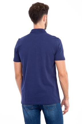 Kiğılı Erkek Lacivert-0 Polo Yaka Düz Slimfit T-Shirt - 74902 1