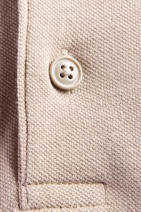 Kiğılı Erkek Bej Polo Yaka Düz Slimfit T-Shirt - 9093 3