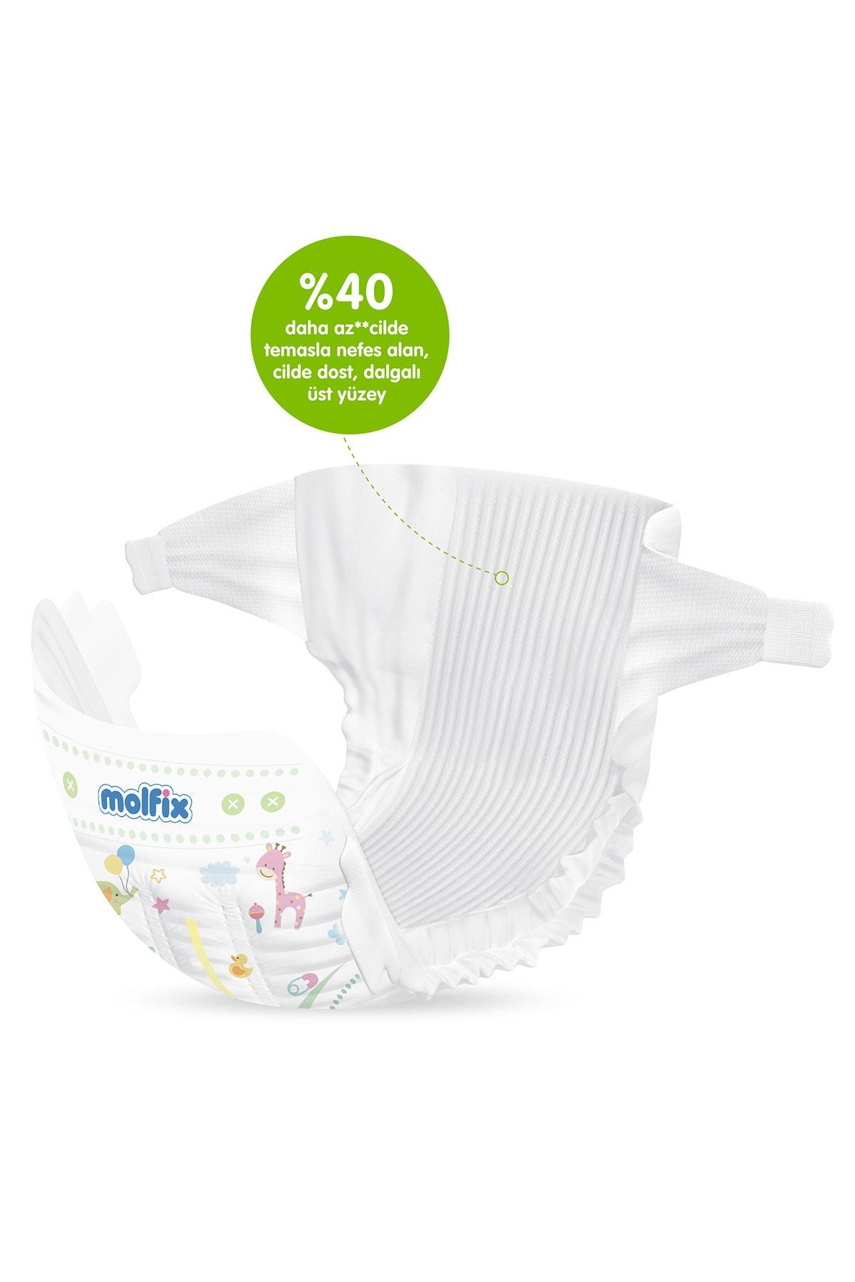 Molfix Pure&Soft Bebek Bezi 5 Beden Junior Aylık Fırsat Paketi 88 Adet 3