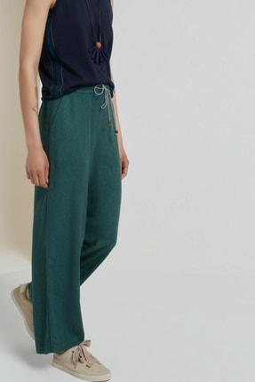 Yargıcı Kadın Yeşil Biye Detaylı Pantolon 9KKPN3128X 2