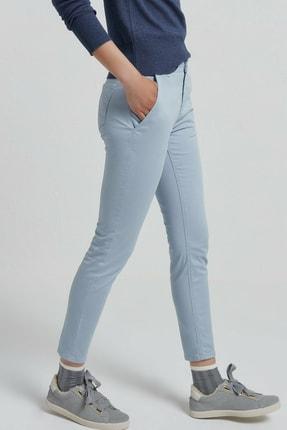Yargıcı Kadın Buz Mavisi Cep Detaylı Pantolon 9KKPN3117X 2