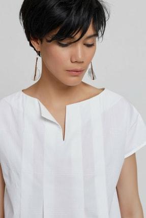 Yargıcı Kadın Kırık Beyaz Tunik Gömlek 9KKGM6142X 1