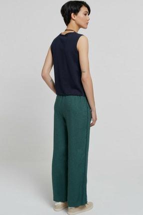 Yargıcı Kadın Yeşil Biye Detaylı Pantolon 9KKPN3128X 3