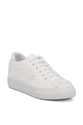 Tergan Beyaz Kadın Klasik Ayakkabı K19I1Ay64258 0