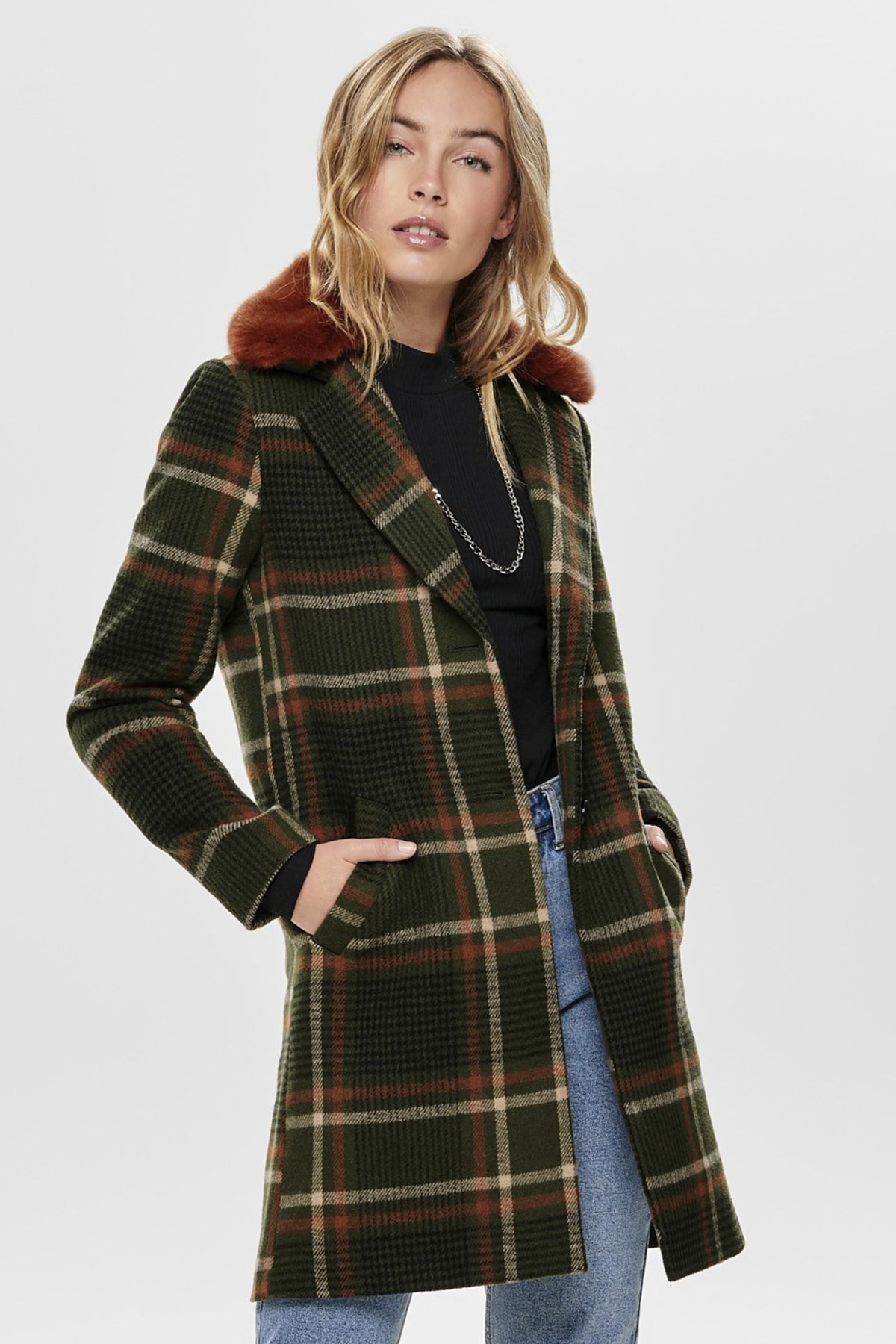 Mont Teresa Check Fur Wool 15182144-FRN
