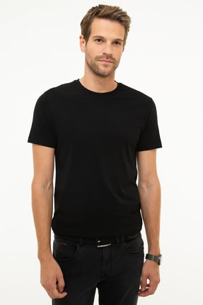 Pierre Cardin Erkek Siyah Slim Fit T-Shirt 0