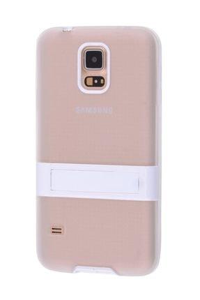 Ally Mobile Ally Galaxy S5 I9600 G900 Standlı Silikon Kılıf Şeffaf 2