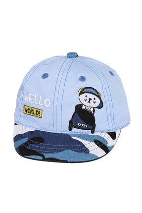 تصویر از 0-18 Aylık Erkek Sapka A_Mavı Şapka
