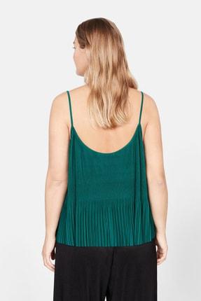 Mango Kadın Yeşil Pilili Askılı Dantel Üst 57029028 2
