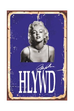Hayat Poster Marilyn Monroe Tabela Tarz Retro Vintage Ahşap Poster 2030046 0