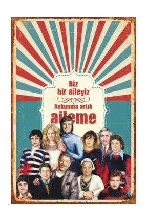 Hayat Poster Bizim Aile Yeşilçam Retro Vintage Ahşap Poster 0