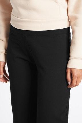 Marks & Spencer Kadın Siyah Pamuklu Eşofman Altı T57006660 3