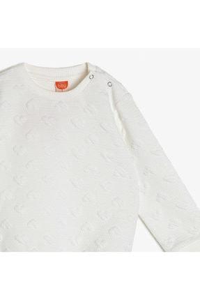 Koton Ekru Bebek Desenli Sweatshirt 2