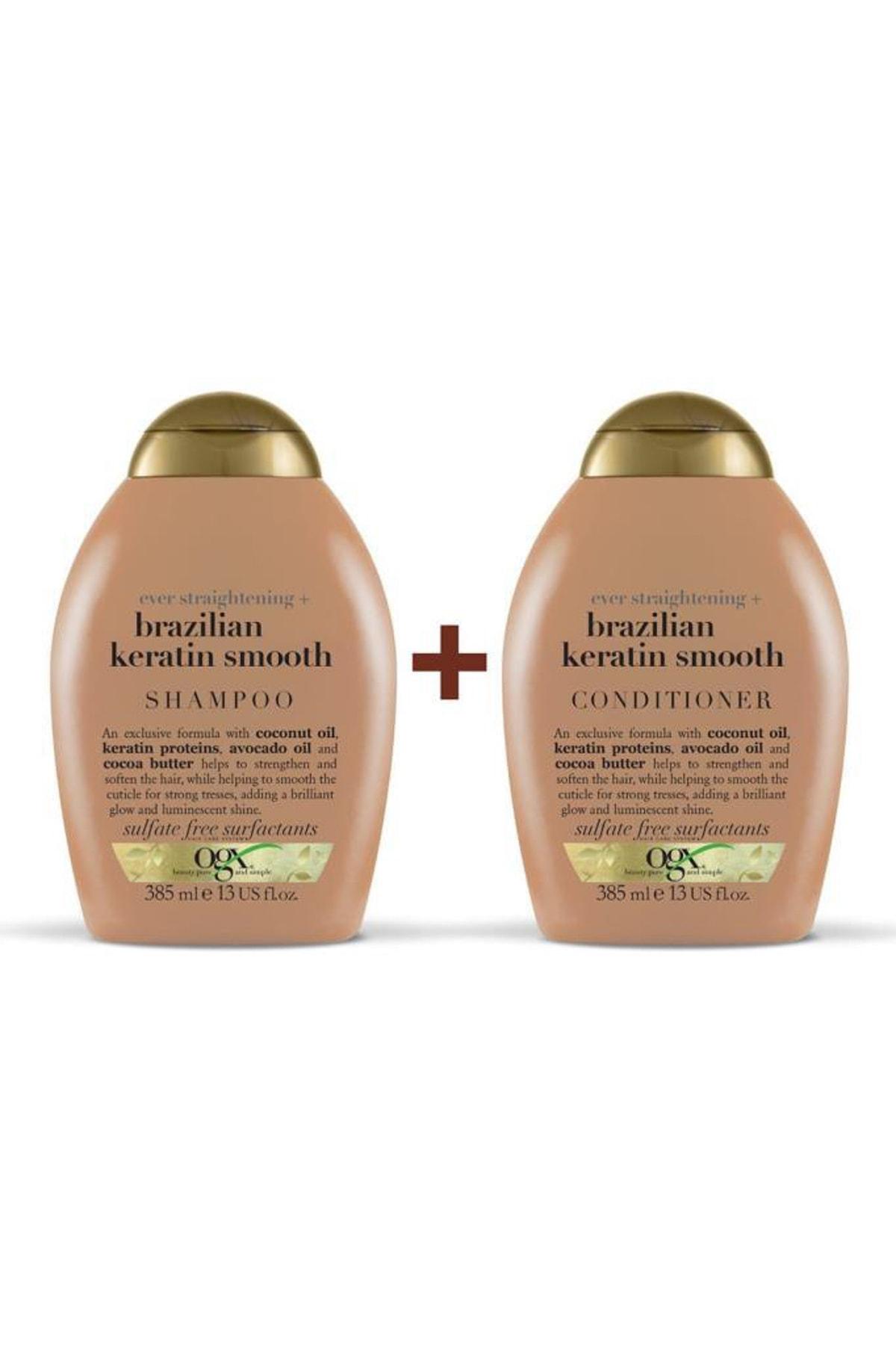 Düzleştirici Brazilian Keratin Smooth Sülfatsız Şampuan+Bakım Kremi 385ml