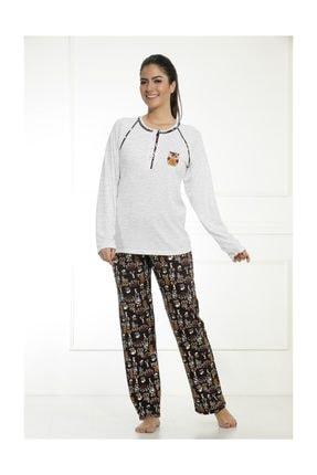 Etoile Cotton Uzun Kol Pijama Takımı 0