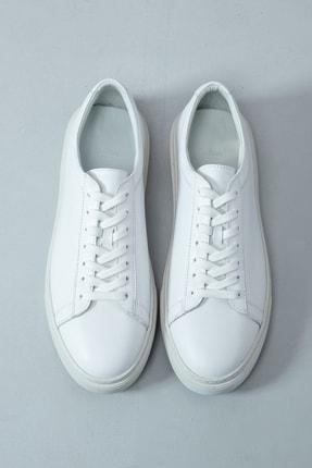 Lufian Slant Deri Sneaker Beyaz 0