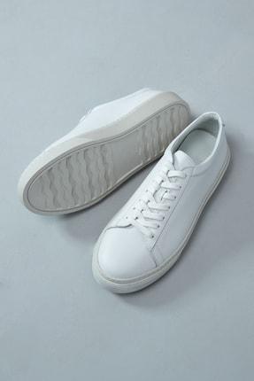 Lufian Slant Deri Sneaker Beyaz 1