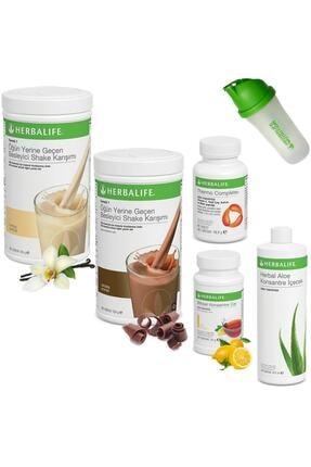 Herbalife Full Set 2 Shake + Çay 50 gr + Aloe + Thermo + Shaker 0