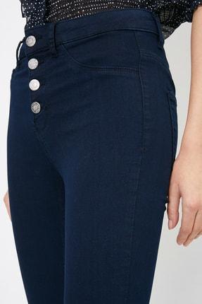 Koton Kadın Mavi Pantolon 0YAK47341DD 4