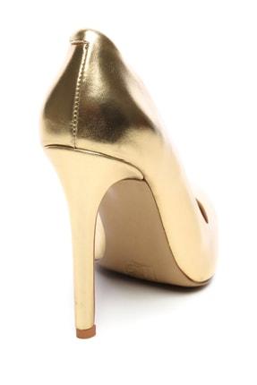 Kemal Tanca Sarı Kadın Vegan Klasik Topuklu Ayakkabı 22 51191 BN AYK Y19 2