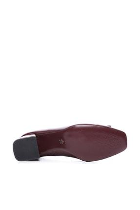 Kemal Tanca Bordo Kadın Vegan Klasik Topuklu Ayakkabı 22 619 BN AYK 4
