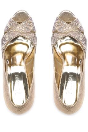 Kemal Tanca Sarı Kadın Vegan Klasik Topuklu Ayakkabı 592 2310 BN AYK 3
