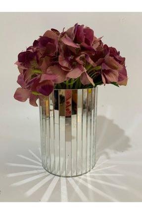 By Ari Ev Dekorasyon 15 Cm Ayna Vazo Gri 0