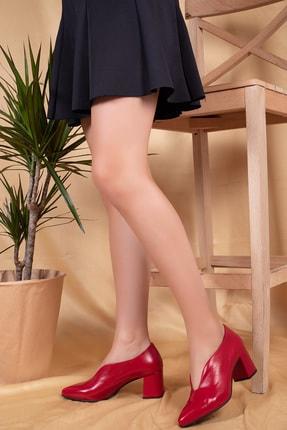 Gondol Kırmızı Rugan Kadın Klasik Topuklu Ayakkabı şhn.0227 1