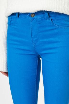 Koton Kadın Lacivert Pantolon 9YAK43550DW 4