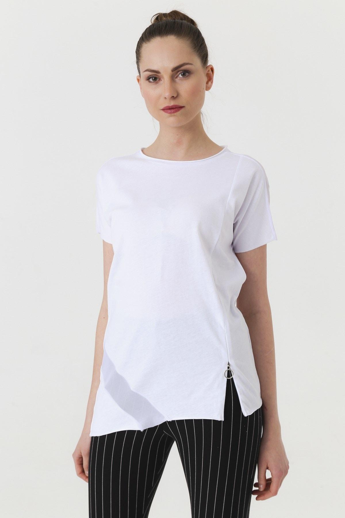 Jument Kadın Beyaz T-shirt 7095 3
