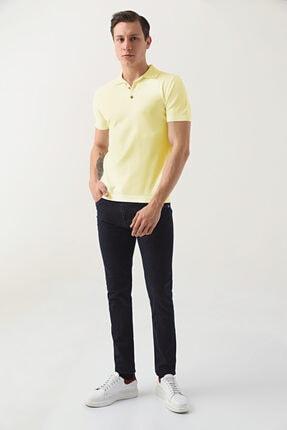 D'S Damat Erkek Lacivert Slim Fit Düz Denim Pantolon 1