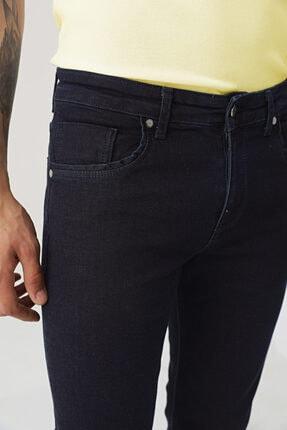D'S Damat Erkek Lacivert Slim Fit Düz Denim Pantolon 2