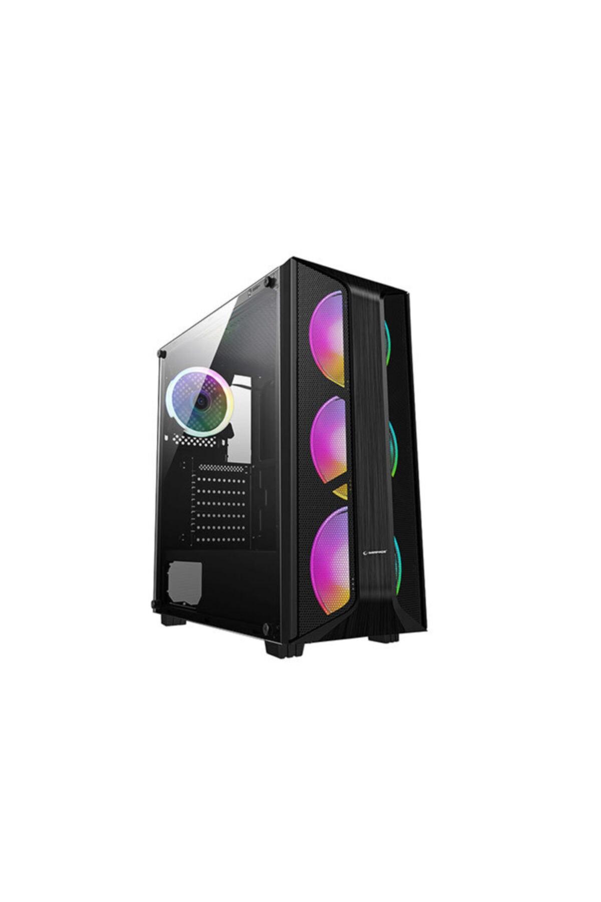 Saılor Temper Camlı 600w 80 Plus Bronze Siyah 4*12cm Rainbow Fanlı Gaming Oyuncu Kasası