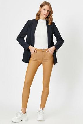 Koton Kadın Kahve Cep Detayli Pantolon 1