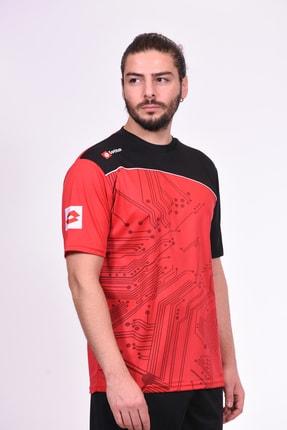 Picture of - T-shirt - Solısta T-shırt Team Pl - R2265 - Kırmızı-siyah-beyaz