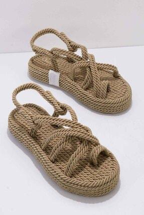 Altın Kadın Sandalet K05823011176
