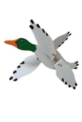 Rüzgaristan Ahşap Rüzgar Gülü Yeşil Başlı Ördek 0