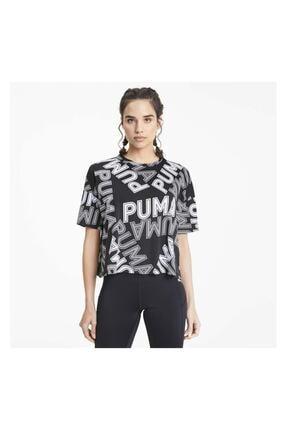 Puma Women`s T-shırt Modern Sports Aop Fashıon Tee Black 58123801 3