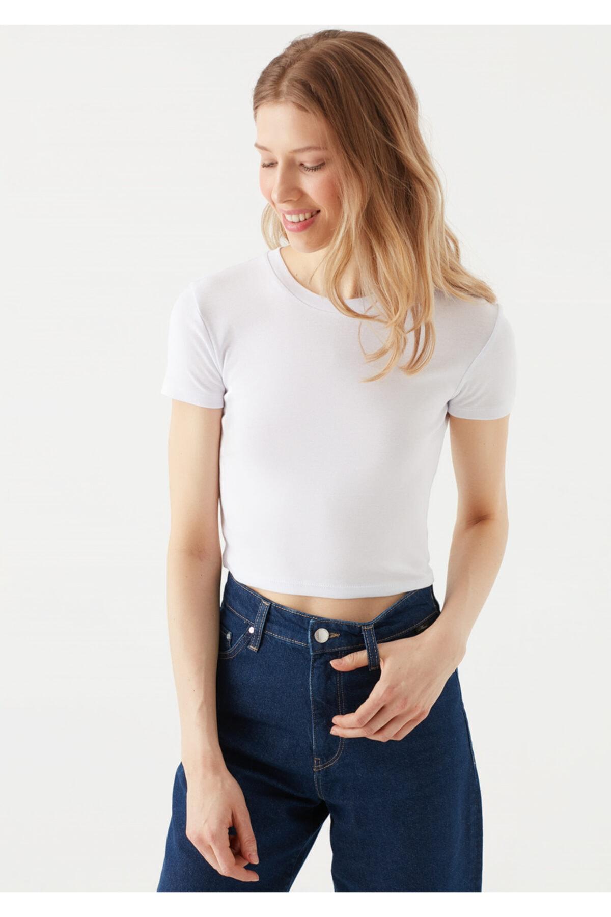 Beyaz Basic Tişört 1600814-620