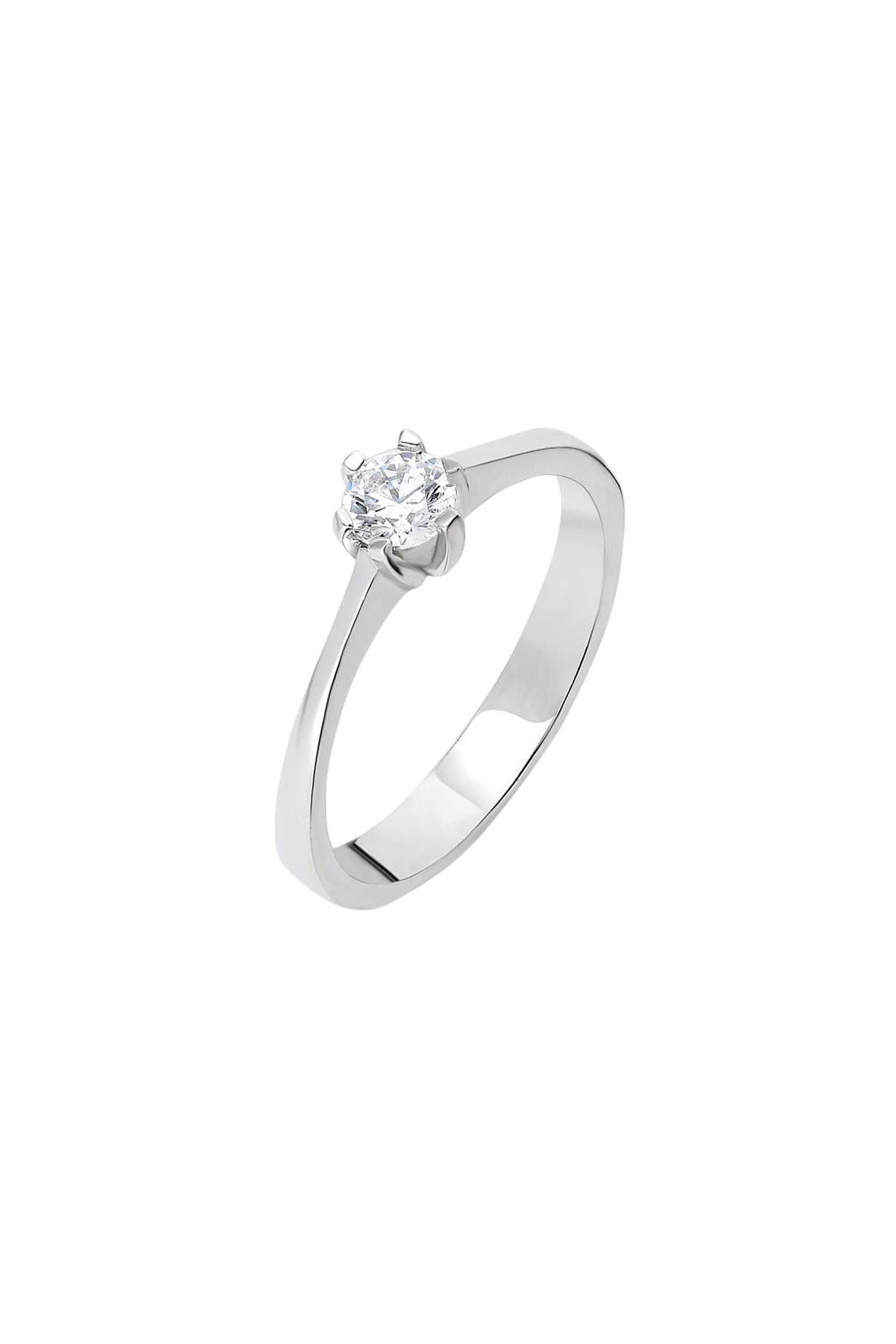 Tesbihane Starlight Diamond Pırlanta Montür Oval Tasarım 925 Ayar Gümüş Bayan Tektaş Yüzük 102001791 3